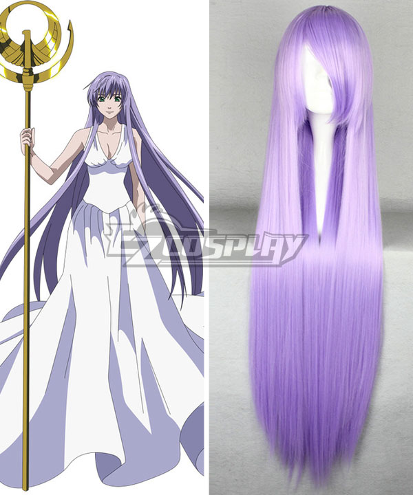 Saint Seiya Knights of the Zodiac Athena Purple Cosplay Wig None