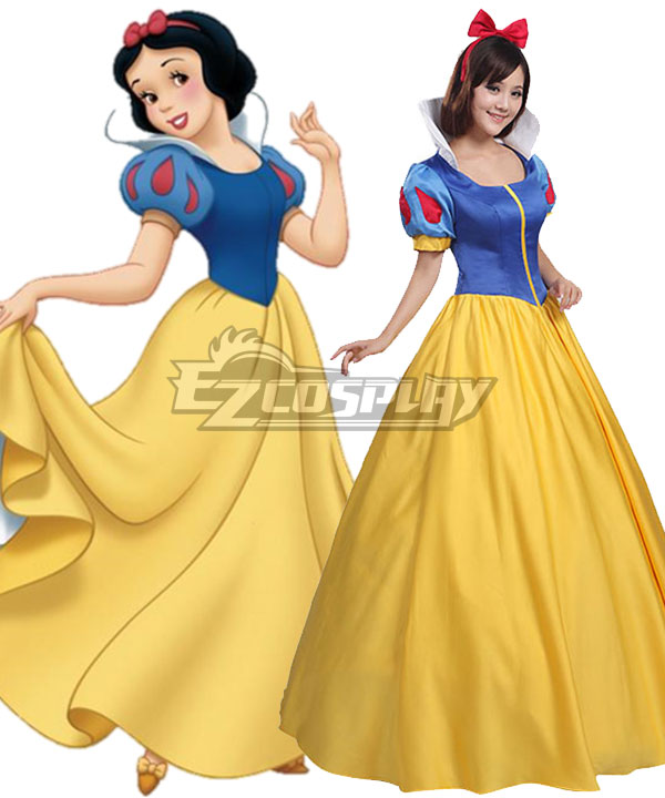 Grimms' Fairy Tales Disney Snow White Schneewittchen Snow White Yellow Dress Cosplay Costume - A Edition None