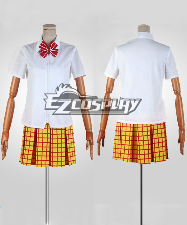 Yowamushi Pedal Girl Summer White Uniform Cosplay Costume