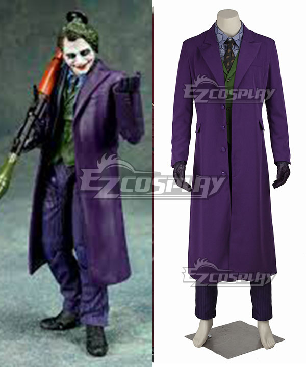 Product Details & DC Batman The Dark Knight The Joker Full Suit Cosplay Costume