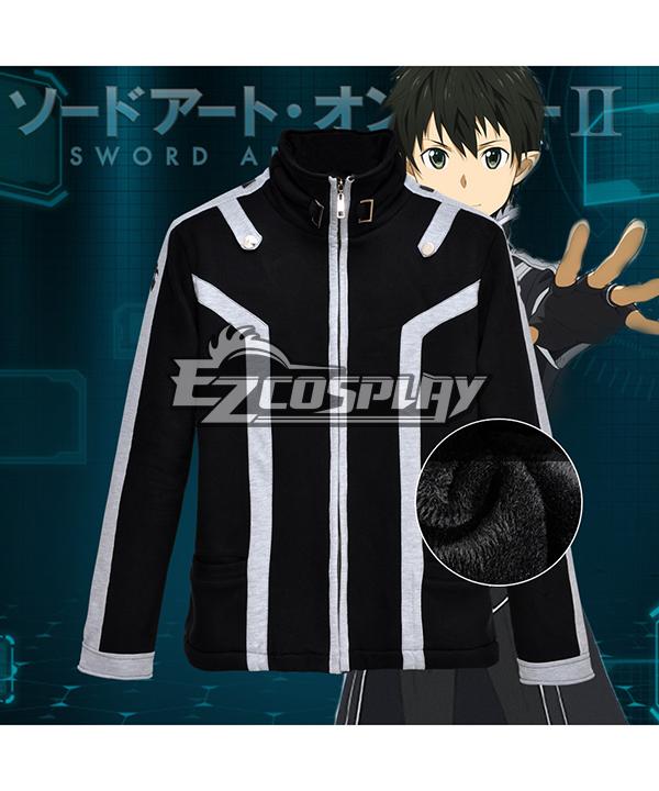 Sword Art Online Kirigaya Kazuto Kirito Thick Cotton Sweater Jacket Comic Related Product Animation Around Cosplay