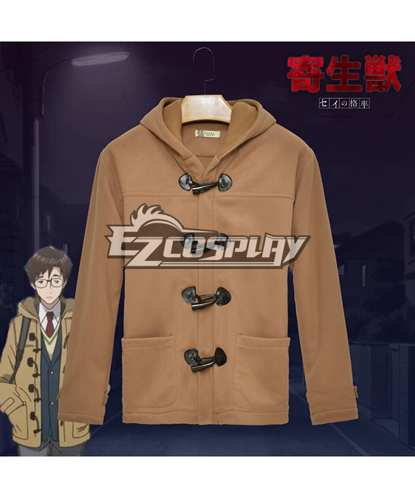 Parasyte Shinichi Izumi The Same Paragraph Long Sleeved Thick Woolen Winter Coat Comic Related Product Animation Around Cosplay
