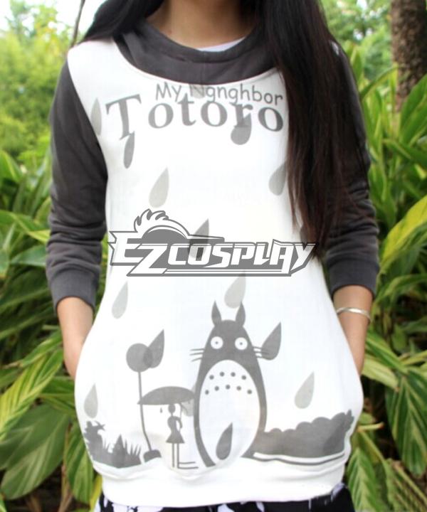 Tonari no Totoro Hayao Miyazaki Ghibli Series Lovely Long Sleeved Hooded Fleece Sweater Female Spring And Autumn Comic Related Product Animation Around Cosplay