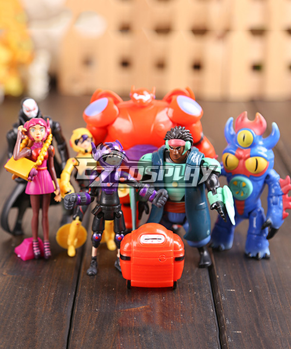 BIG HERO 6 Baymax Marvel Comics Disney Toy Movable Joint All Seven Cosplay Animation Around None