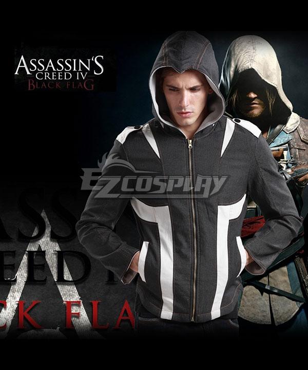 Assassins Creed 4 Black Flag Beak Hoodies Coat Sweatshirts Man Game Cosplay Costume None
