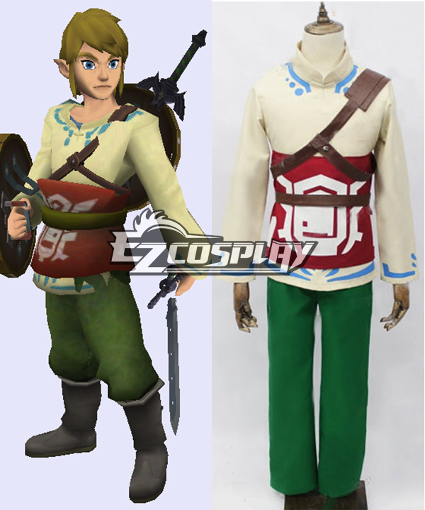 The Legend of Zelda Skyward Sword Skyloft Link Cosplay Costume None