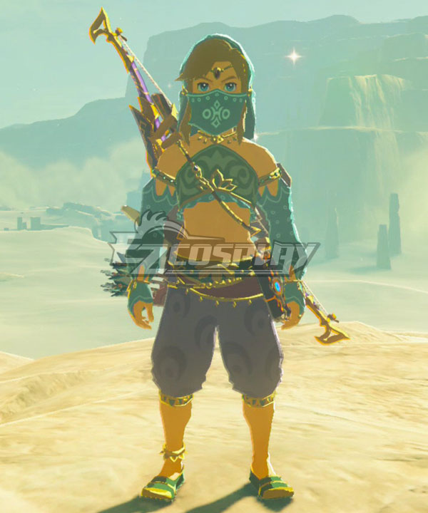 The Legend of Zelda: Breath of the Wild Female Zelda Link Gerudo Outfit Cosplay Costume None