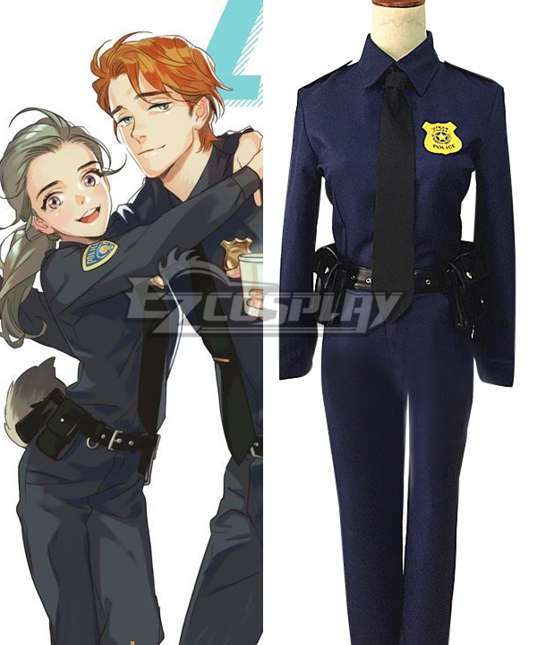Disney Zootopia Officer Judy Hopps Cosplay Costume None