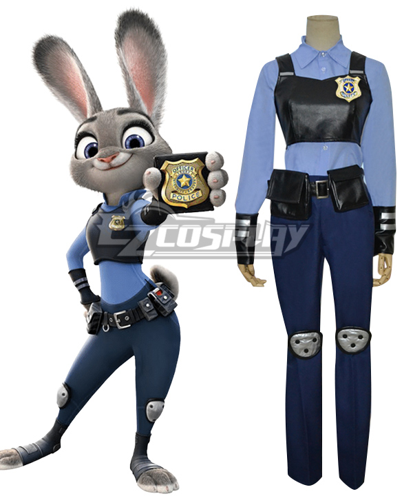 Disney Zootopia Officer Judy Hopps Cosplay Costume None
