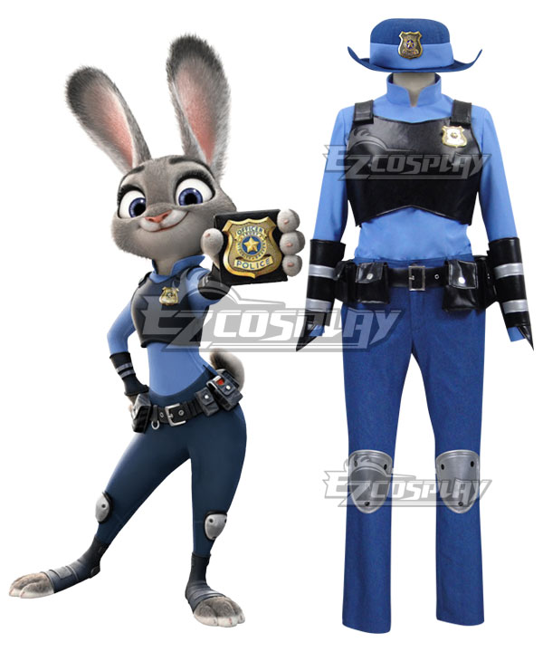 Disney Zootopia Officer Judy Hopps Personify Movie Cosplay Costume None
