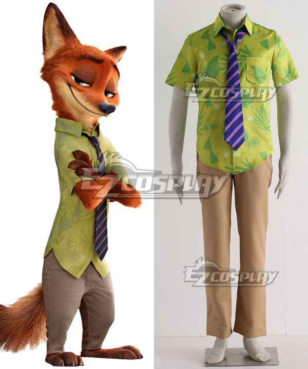 Disney Zootopia Nicholas P. Wilde Fox Nick Cosplay Costume None
