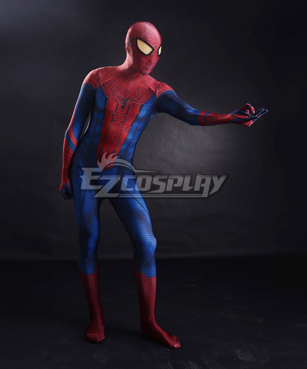 Marvel Spiderman 2015 The Amazing Spider-man 3D Original Movie Cosplay Costume EZT0035