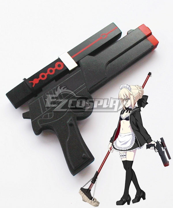 Fate Grand Order Saber Altria Pendragon Maid Swimsuit Sword Cosplay Weapon Prop