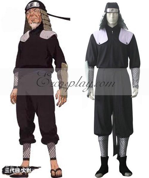Naruto 3rd Hokage Hiruzen Sarutobi Battle Cosplay Costume