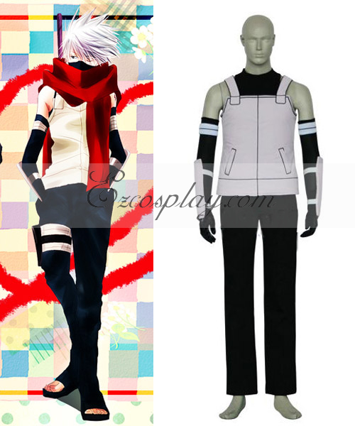Naruto Kakashi Hatake ANBU Black Ops Cosplay Costume