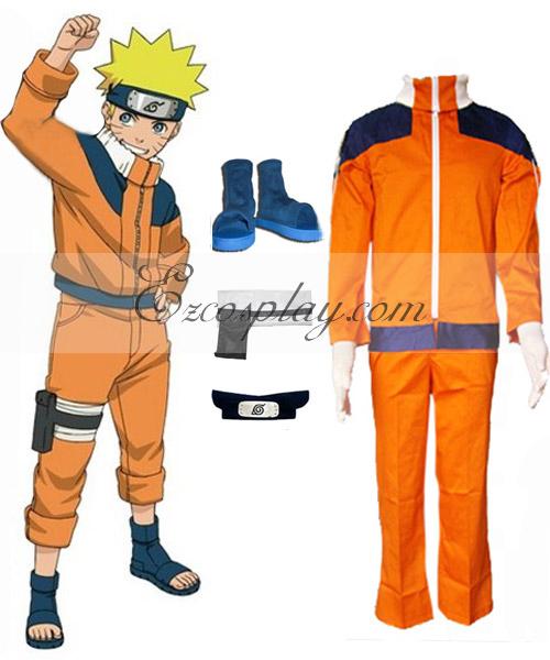 Naruto 1st Naruto Uzumaki Cosplay Costume Set