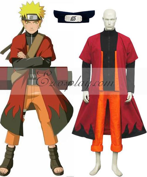 Naruto Shippuuden Uzumaki Naruto Sage Cosplay Costume