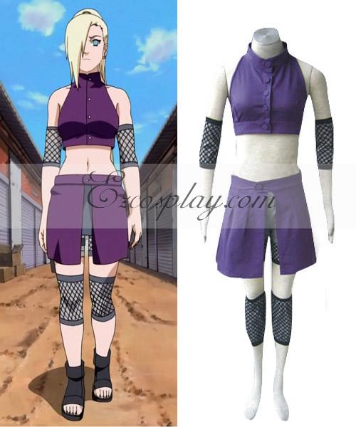 Naruto Shippuuden Yamanaka Ino Cosplay Costume