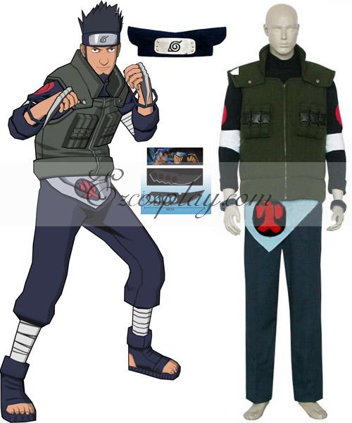 Naruto Sarutobi Asuma Deluxe Cosplay Costume