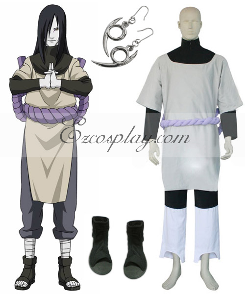 Naruto Orochimaru Cosplay Costume Set