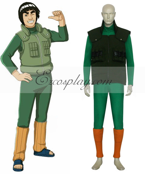 Naruto Maito Gai Battle Cosplay Costume