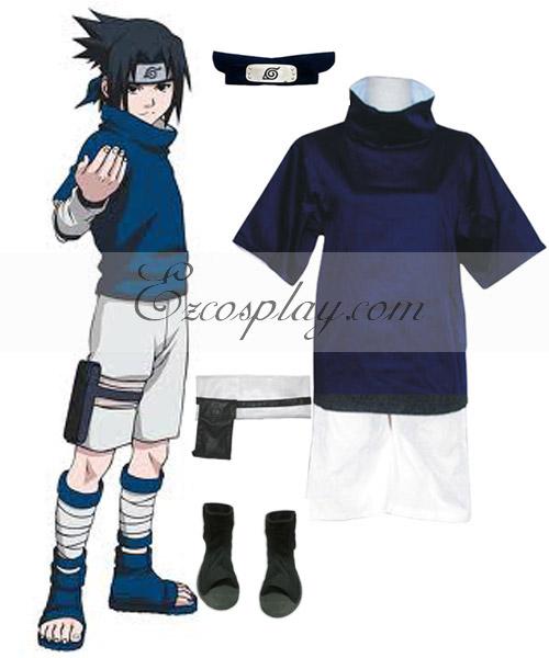 Naruto Uchiha Sasuke Chunin Exam Cosplay Costume