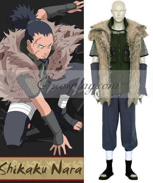 Naruto Shippuuden Shikaku Nara Battle Cosplay Costume