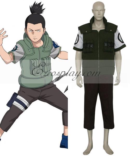 Naruto Nara Shikamaru Battle Cosplay Costume