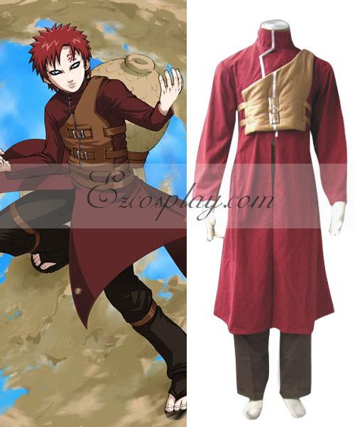 Naruto Shippuuden Gaara Kazekage 3rd Red Cosplay Costume