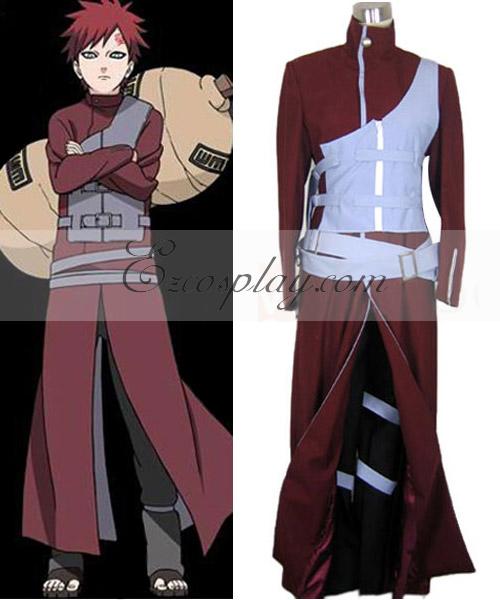 Naruto Shippuuden Gaara Kazekage Blue Armour Cosplay Costume