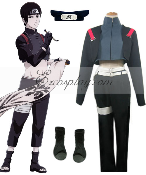 Naruto Shadows Anbu Sai Cosplay Costume Set