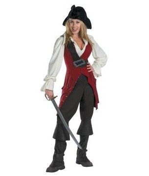 Pirates of the Caribbean 3 Elizabeth Pirate Deluxe Adult (2007) Costume EPC0002