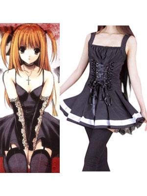 Death Note Amane Misa balck dress Cosplay Costume