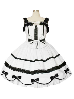 Lace Trimmed Gothic Lolita Cosplay Dress.com