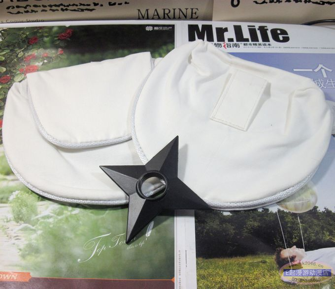 Naruto Cosplay Accessories Secret Weapon White Bag
