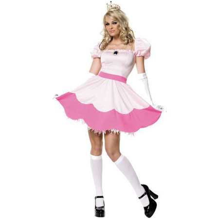 Super Mario Bros Princess Peach Adult Sexy Costume