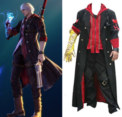Devil May Cry 4 Nero Cosplay Costume (Overcoat Only)