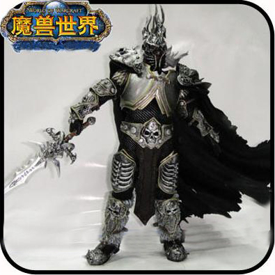 The Lich King Arthas Menethil Deluxe Collector  Figures + Frostmourne None