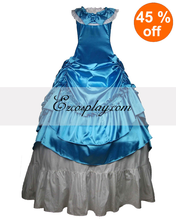 Blue Sleeveless Gothic Lolita Dress