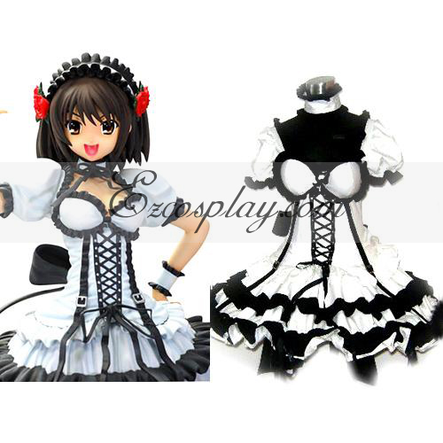 Haruhi Suzumiya Black Dress Lolita Cosplay Costume ELT0011