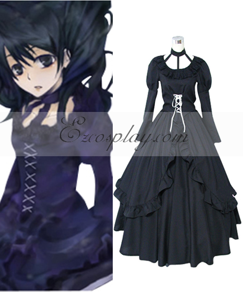 Image of D.Grayman Lenalee Lee Princess Black Dress Cosplay Costume