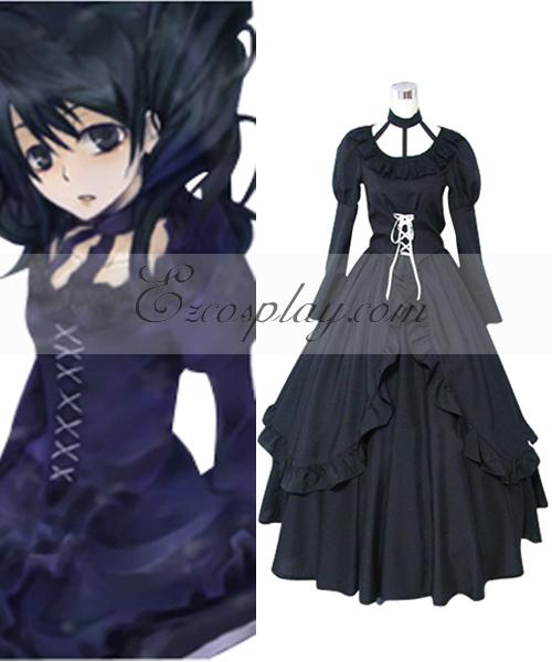 Image of D.Grayman Lenalee Lee Princess Black Dress Cosplay Costume