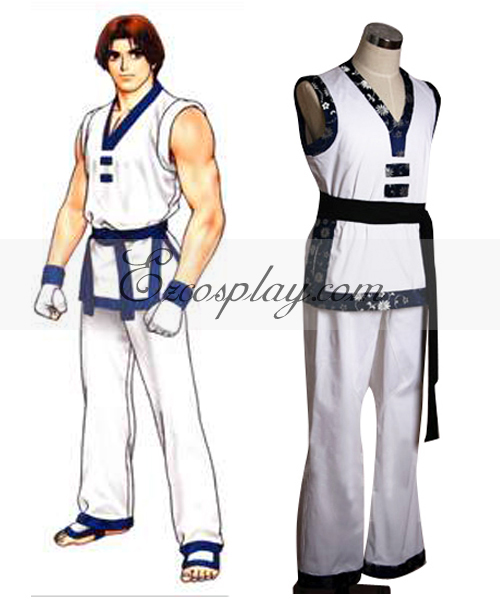The King of Fighters' Kim Kaphwan White Cosplay Costume