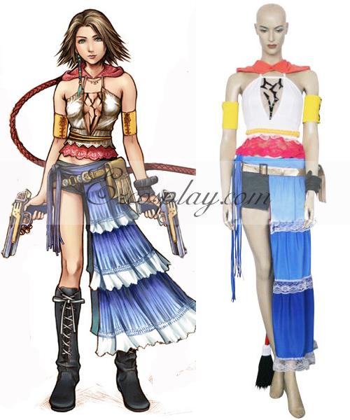 Final Fantasy XII 12 Yuna Cosplay Costume