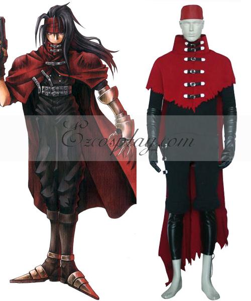 Final Fantasy VII Vincent Valentine Cosplay Costume