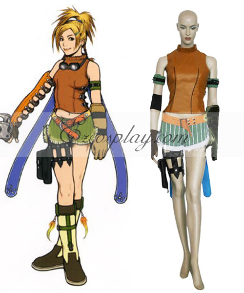 Final Fantasy X Rikku Shirt Cosplay Costume