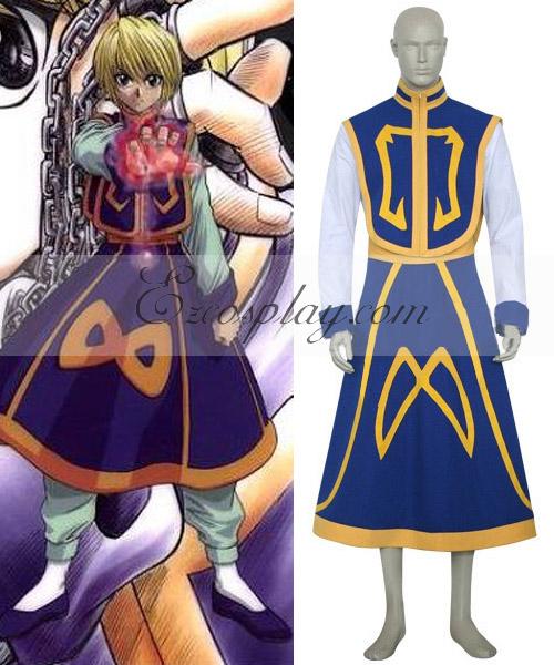 Hunter X Hunter Kurapica Deluxe Cosplay Costume-Size Small