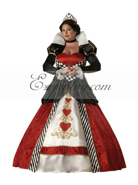 Alice in Wonderland Queen of Hearts Cosplay Costume