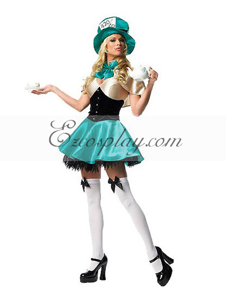 Alice in Wonderland Ladies Mad Hatter Cosplay Costume