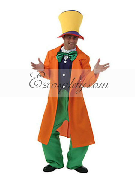 Alice in Wonderland Adult Mad Hatter Cosplay Costume